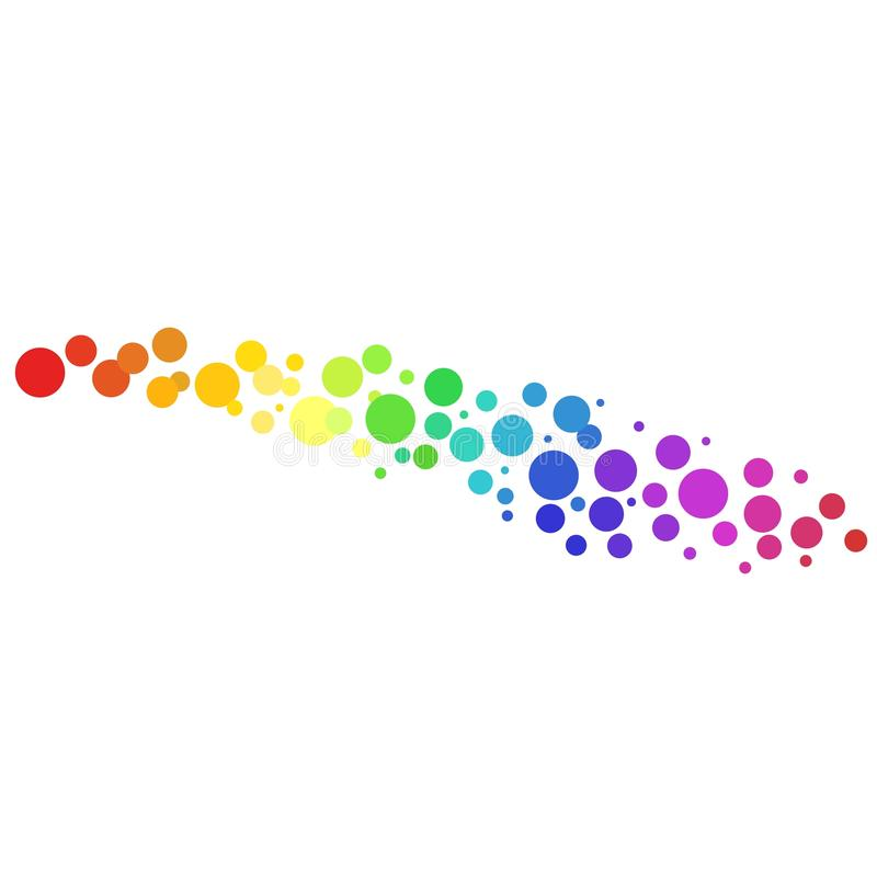 Fond coloré de vecteur de cercles illustration de vecteur