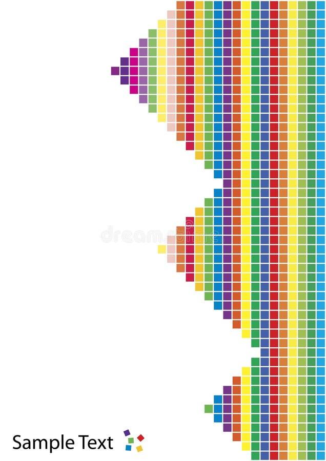 Fond coloré de vecteur dans le type de Pixel-dessin illustration libre de droits