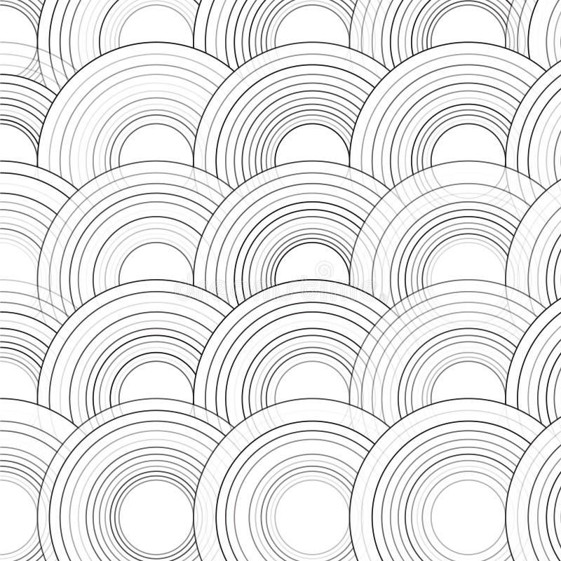 Fond coloré dessiné abstrait de cercles de vecteur illustration libre de droits