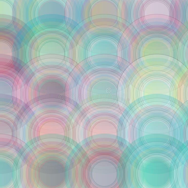 Fond coloré dessiné abstrait de cercles de vecteur illustration stock