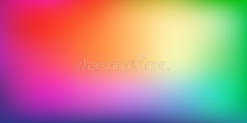 Fond coloré doux et trouble de maille de gradient illustration de vecteur