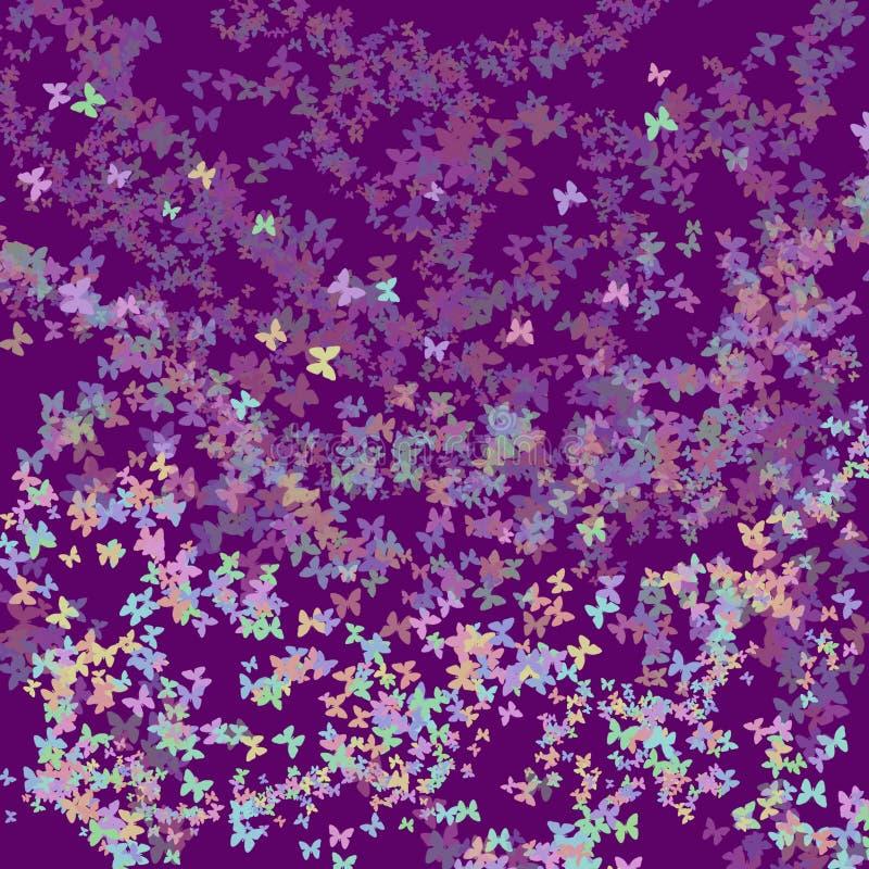 Fond coloré et abstrait avec des papillons photographie stock