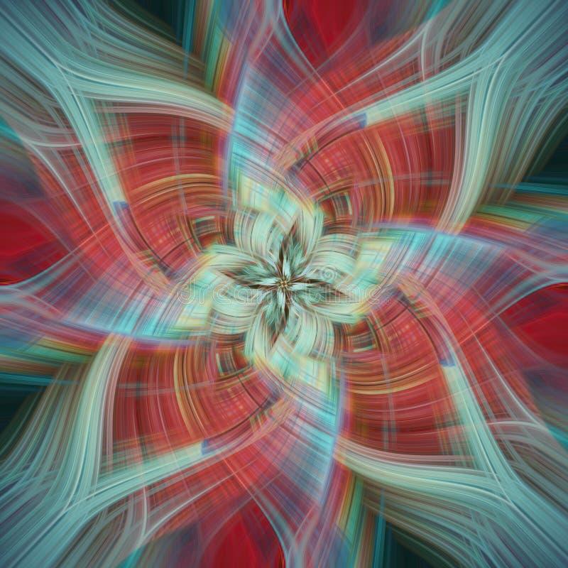 Fond coloré et abstrait avec l'effet de pirouette photo stock