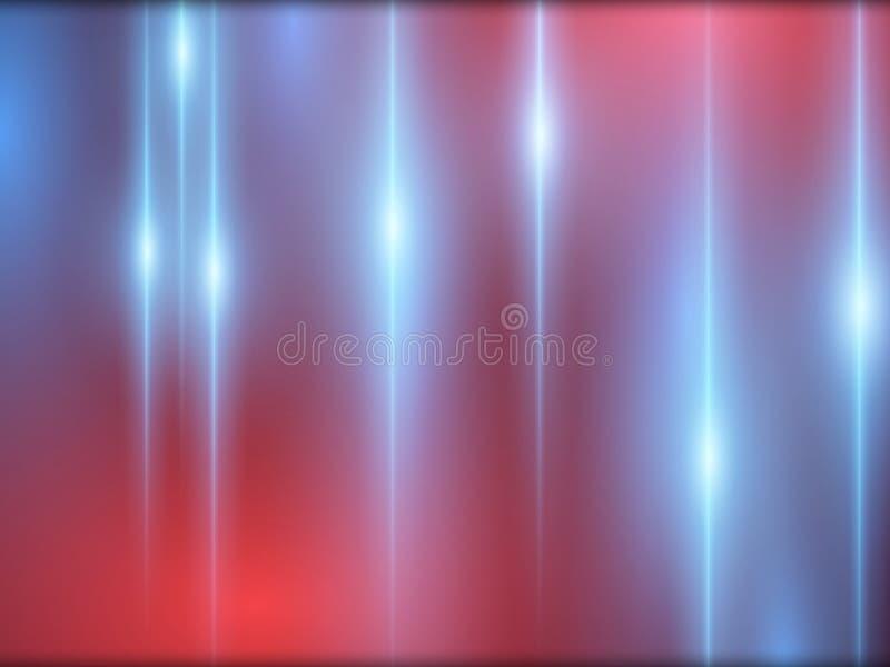Fond coloré et futuriste abstrait avec des effets de lumière bleue et rouge Flashes abstraits Illustration de vecteur illustration de vecteur