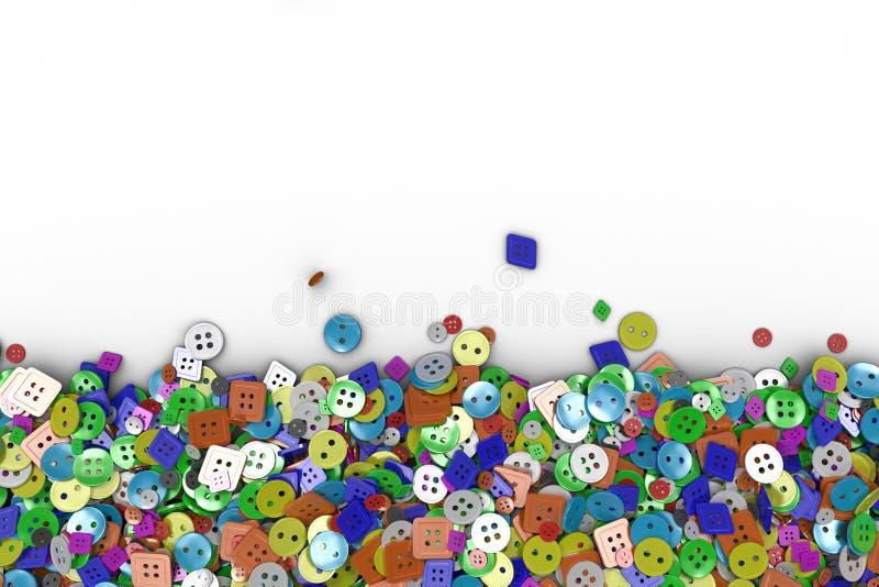 Fond coloré fait à partir des boutons de couture illustration de vecteur