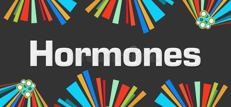 Fond coloré foncé d'hormones illustration libre de droits