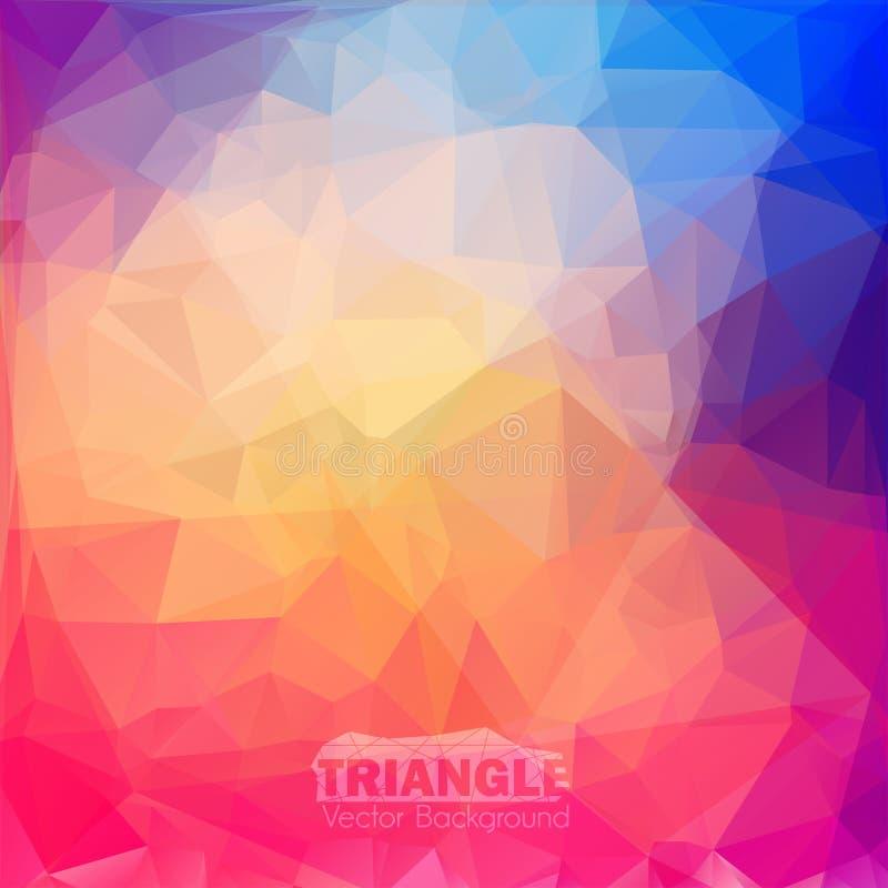 Fond coloré géométrique abstrait. image libre de droits