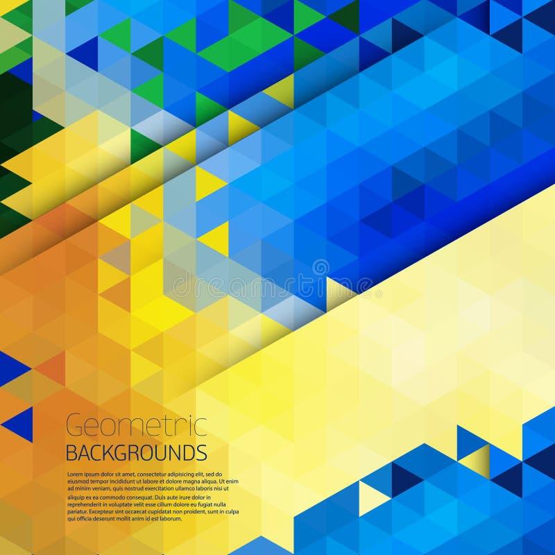 Fond coloré géométrique abstrait illustration de vecteur