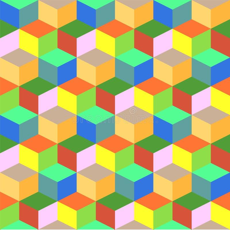 Fond coloré géométrique de vecteur de cube illustration de vecteur