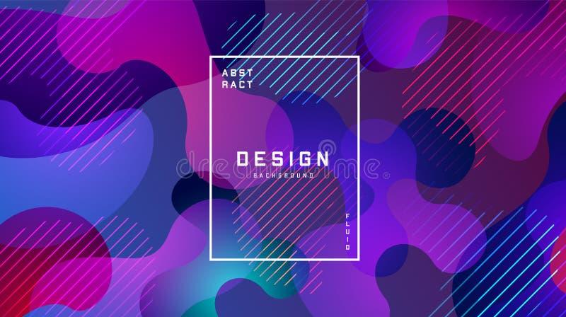 Fond coloré liquide de gradient Le liquide forme le concept futuriste Papier peint g?om?trique cr?atif Conception pour des banni? illustration libre de droits