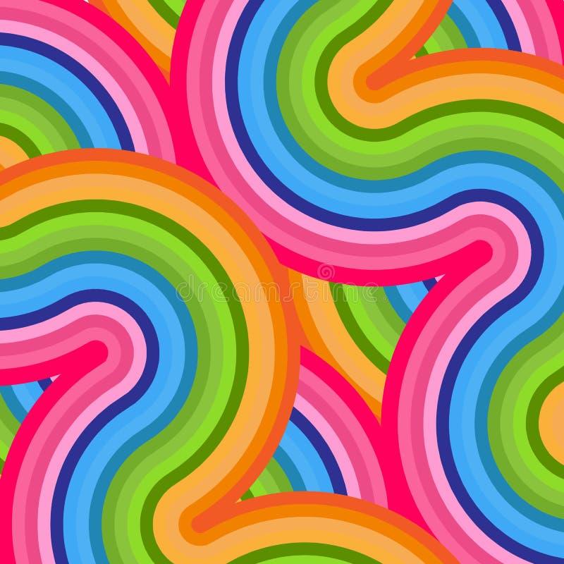 Fond coloré lumineux des lignes élément incurvées onduleuses de résumé pour la conception des ventes de publicité de bannières po illustration libre de droits