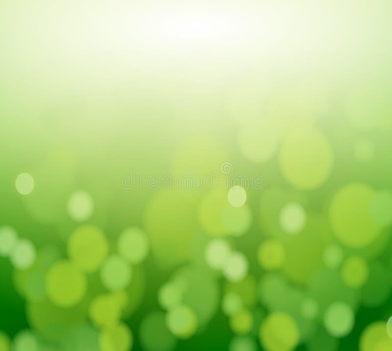 Fond coloré par doux d'abrégé sur vert d'eco illustration libre de droits