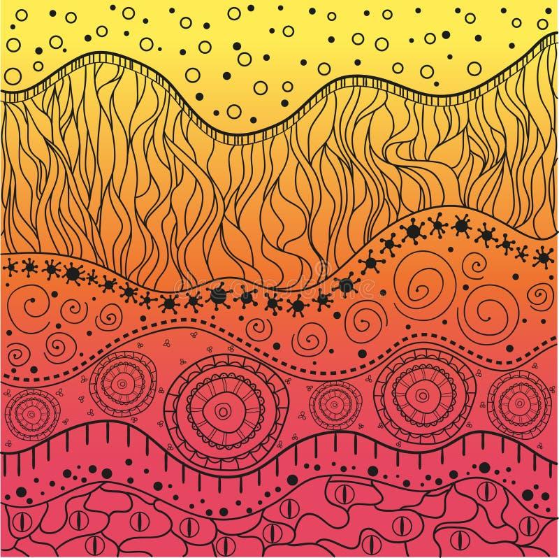 Fond coloré par est illustration stock