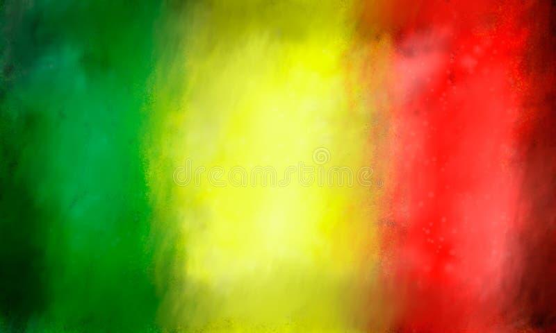 Fond coloré par reggae illustration de vecteur