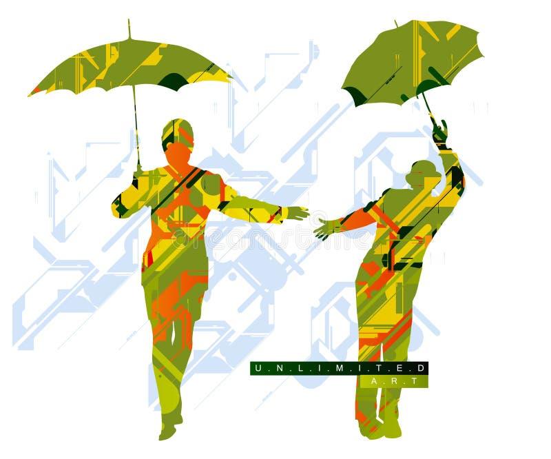 Fond coloré pertinent illustration de vecteur