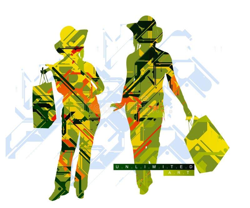 Fond coloré pertinent illustration libre de droits