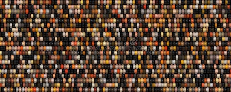 fond coloré plat de graine du maïs 3d illustration de vecteur