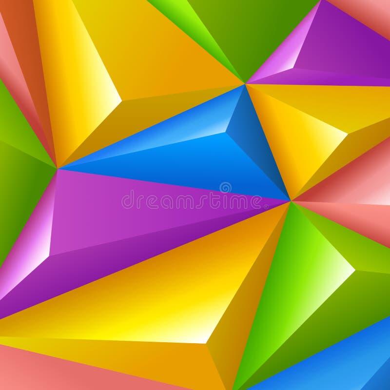 Fond coloré. Polygones de triangle de vecteur. illustration stock