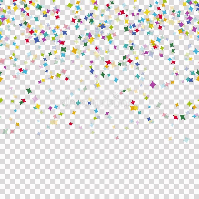 fond coloré sans couture de confettis avec le transparent de vecteur illustration libre de droits