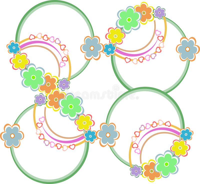 Fond coloré sans joint abstrait avec des fleurs illustration libre de droits