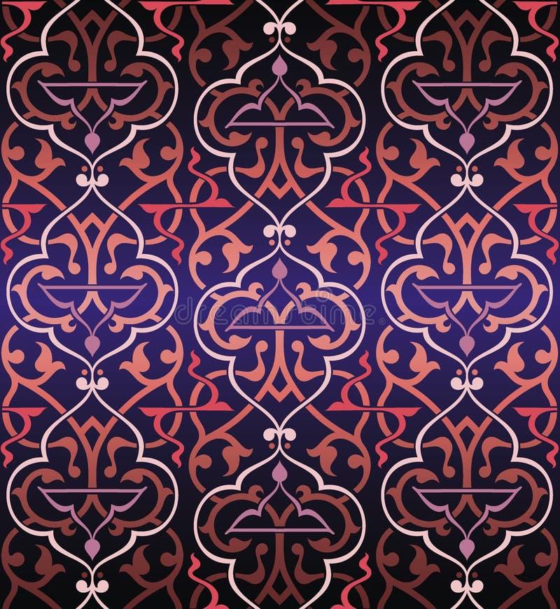 Fond coloré sans joint d'arabesque illustration stock