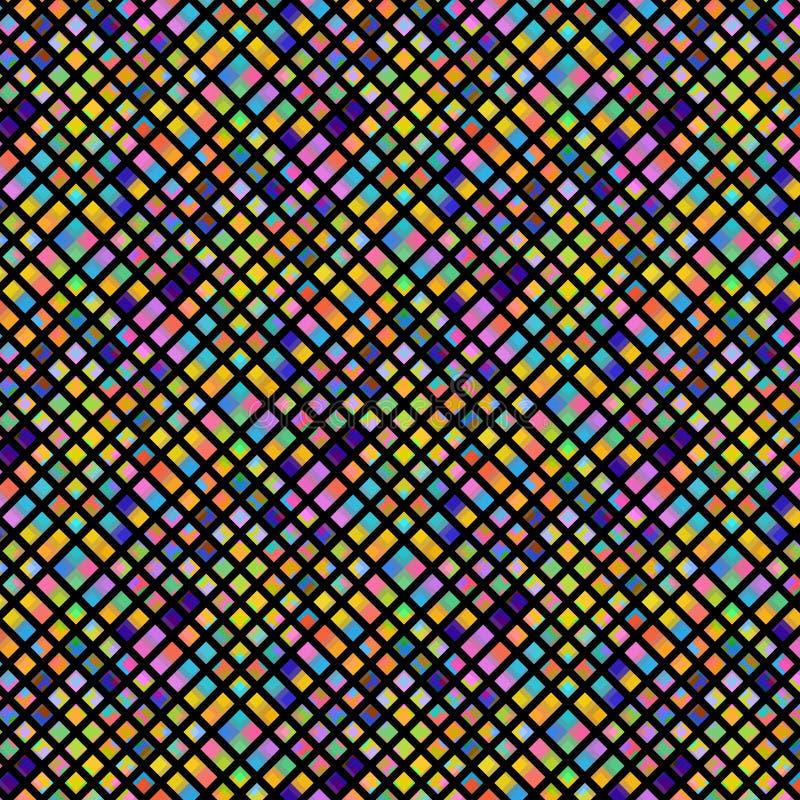 Fond coloré vif d'abrégé sur mosaïque pour des conceptions créatives modernes illustration libre de droits