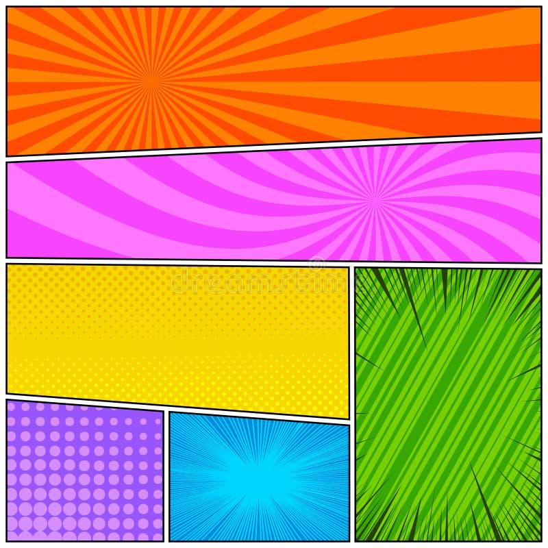Fond color? comique illustration libre de droits