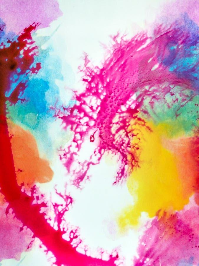 Fond color? créé avec de l'eau les encres et idéal pour des téléphones portables ou des écrans ou comme fond graphique photo stock