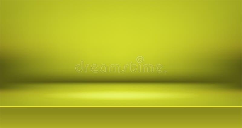 Fond color? de pi?ce vive d'?tape, affichage vide de produit de table avec l'espace illustration de vecteur