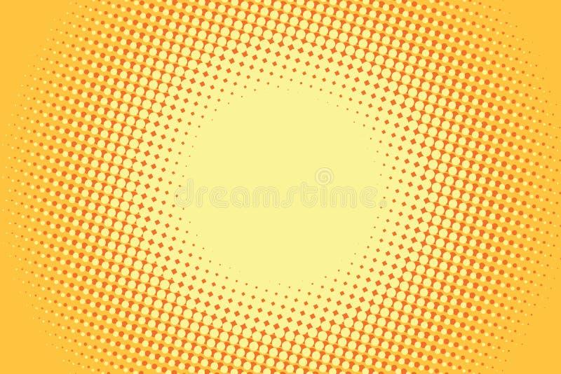 Fond comique jaune d'art de bruit rétro illustration libre de droits
