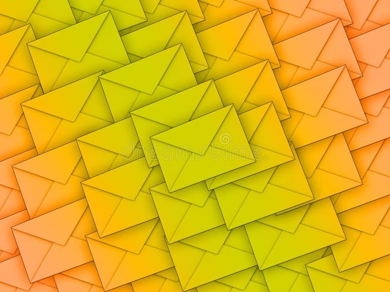 Fond complètement des enveloppes illustration de vecteur