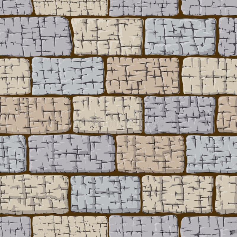 Fond composé des blocs en pierre seamless illustration libre de droits