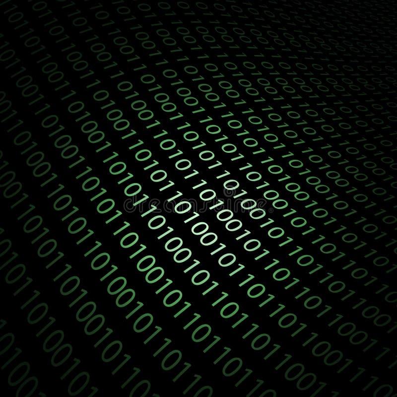 Fond conception-binaire abstrait du code 3D Concept de technologie illustration de vecteur