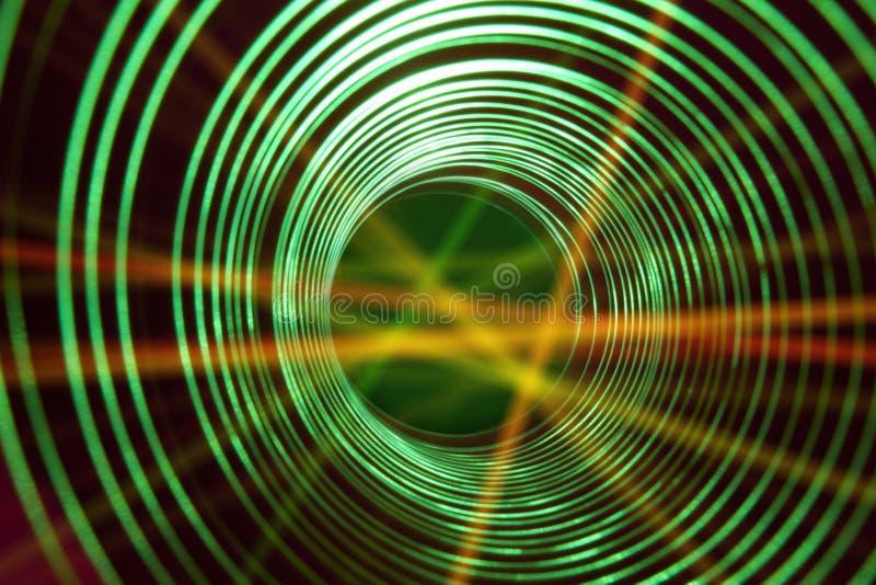 Fond conceptuel abstrait avec le tunnel de pointe futuriste de trou de ver photographie stock libre de droits