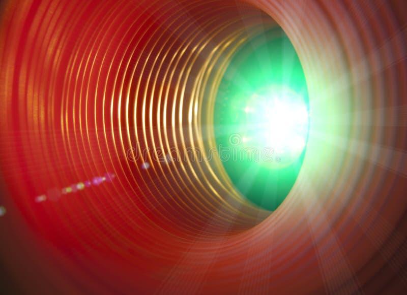 Fond conceptuel abstrait avec le tunnel de pointe futuriste de trou de ver photographie stock