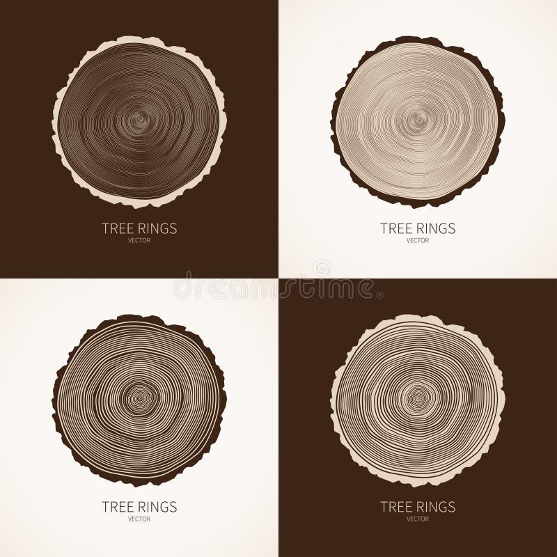 Fond conceptuel d'anneaux d'arbre de vecteur illustration stock