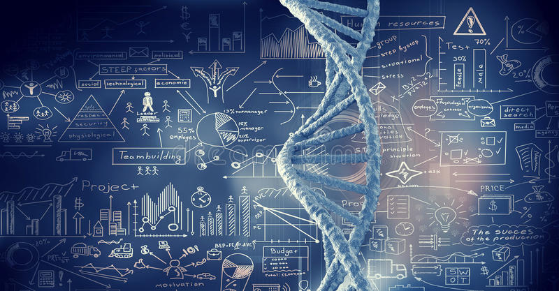 Fond conceptuel de biotechnologie illustration stock
