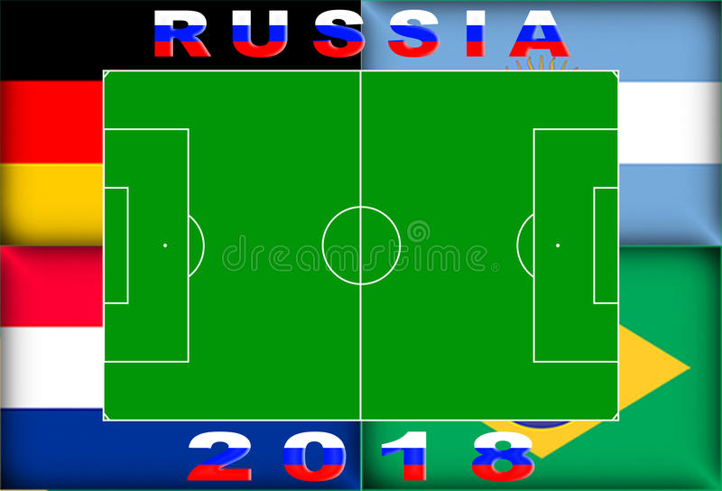 Fond conceptuel de la Russie 2018 photo stock