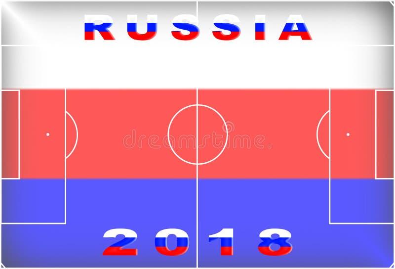 Fond conceptuel de la Russie 2018 image libre de droits
