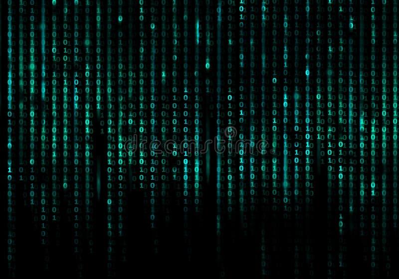 Fond conceptuel de Matrix illustration stock