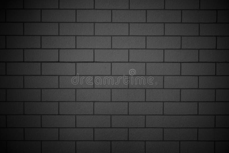 Fond concret de mur de briques noir lisse horizontal, architecture photographie stock libre de droits