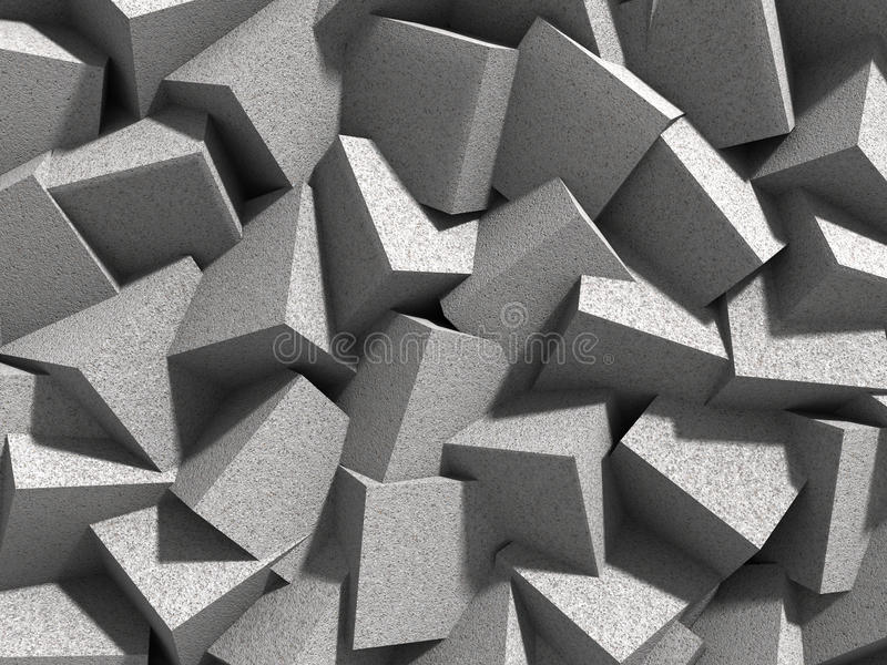 Fond concret géométrique abstrait de blocs de cubes image stock
