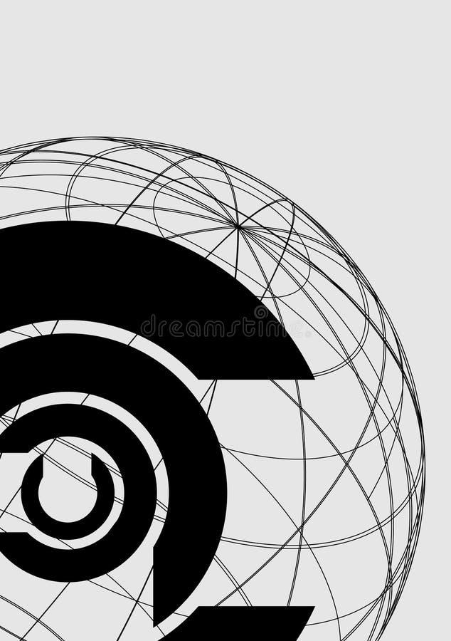 Fond continental de symbole illustration stock