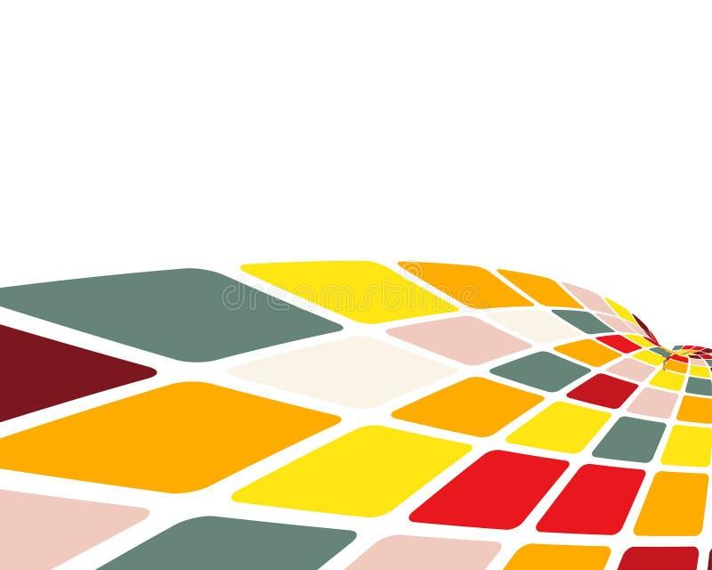Fond contrôlé multicolore illustration libre de droits