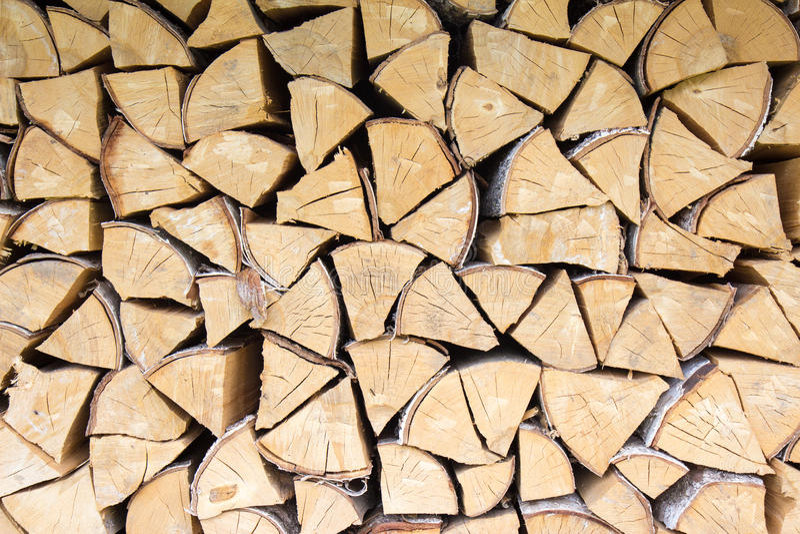 Fond coupé de bois de chauffage photos stock