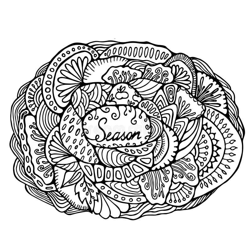 Fond courant calibre pour la carte, couverture, affiche Main illustration de vecteur