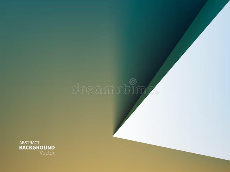 Fond courant d'abrégé sur illustration de vecteur Style matériel de conception Minimalisme, 3D, la géométrie, ombre Effet de papi illustration libre de droits