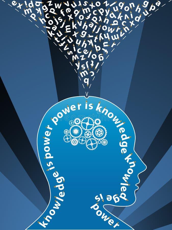 Fond créateur d'esprit de la connaissance illustration libre de droits