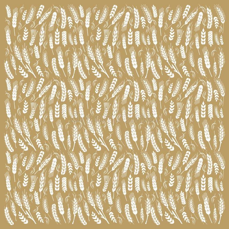 Fond créateur de blé illustration stock