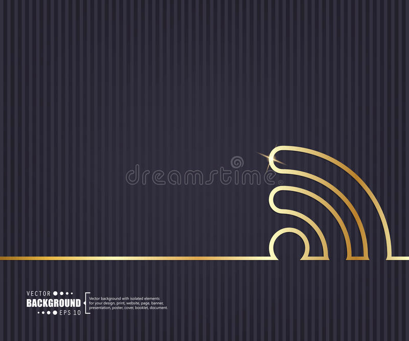 Fond créatif abstrait de vecteur de concept Pour le Web et les applications mobiles, conception de calibre d'illustration, affair illustration stock